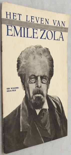 DRUKKERIJ PIER WESTERBAAN - - Het leven van Emile Zola. Met in de hoofdrol Paul Muni. (Een Warner-Bros.-Film)  [Filmbrochure]