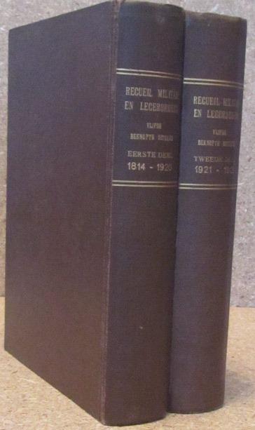 ALGEMEENE LANDSDRUKKERIJ, UITGEVER - - Recueil militair en legerorders bevattende wetten, besluiten, ministerieele beschikkingen en kennisgevingen van belang voor de Nederlandsche Landmacht. Vijfde beknopte uitgave. (Eerste + Tweede deel).