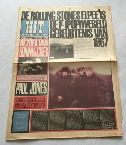 RIDDER, WILLEM DE, SAMENSTELLING, - Hitweek. Vakblad voor twieners. Weekblad No. 21, 2e Jaargang, 9 februari 1967. 'De Rolling Stones elpee is de 1e (Pop)wereldgebeurtenis van 1967' [Los nummer]